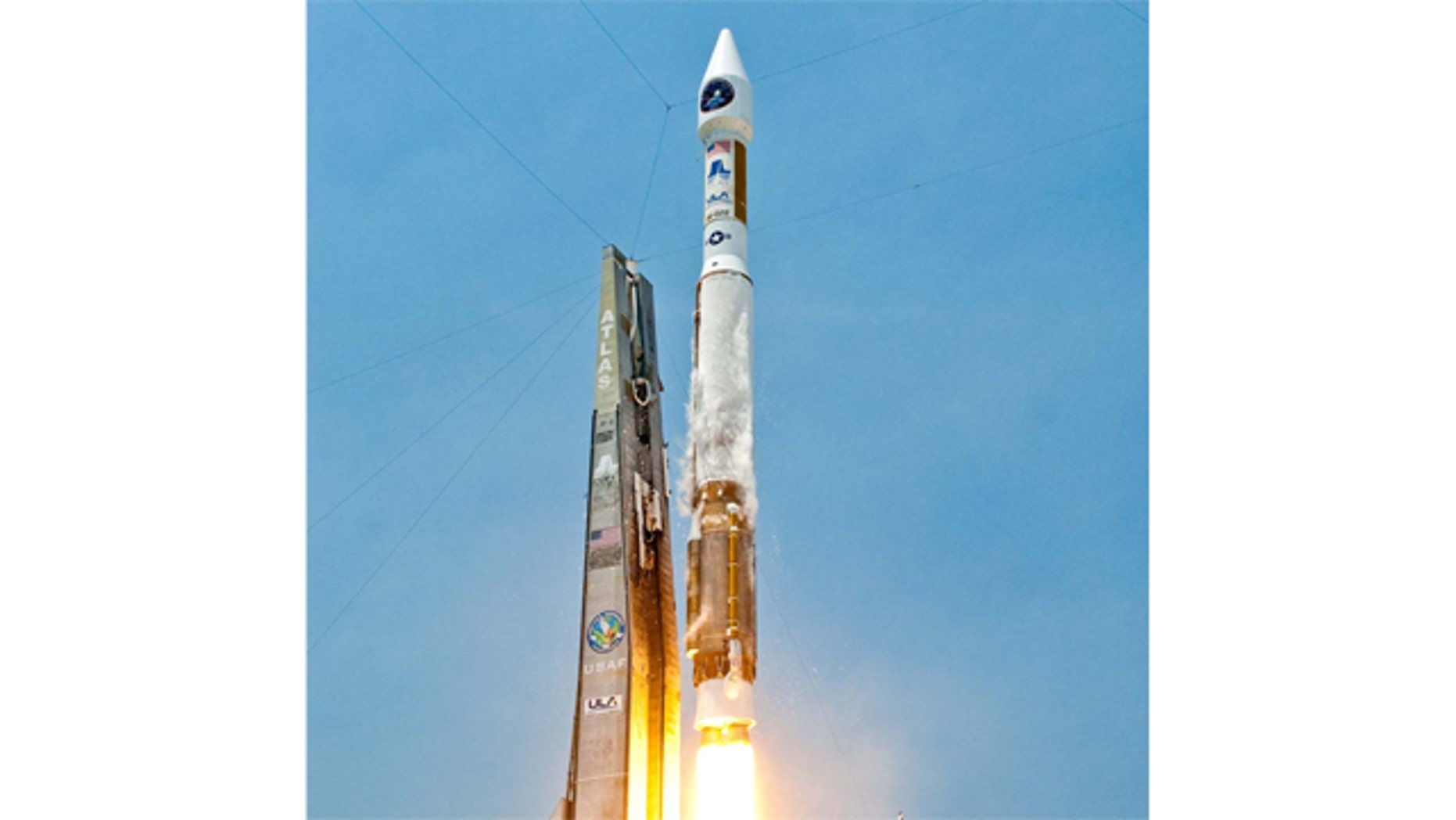 A United Launch Alliance Atlas 5 rocket blasts off from Space Launch Complex-41 at the Cape Canaveral Air Force Station in Florida with the Air Force's Space Based Infrared Systems (SBIRS) GEO-1 satellite on May 7, 2011. Liftoff occurred at 2:10 p.m. EDT.