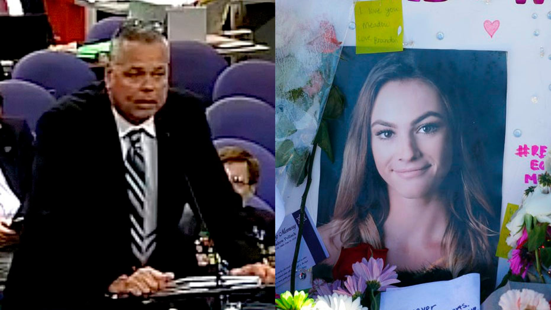 The father of Meadow Pollack filed a wrongful death lawsuit against former Broward County Deputy Scot Peterson on Monday.