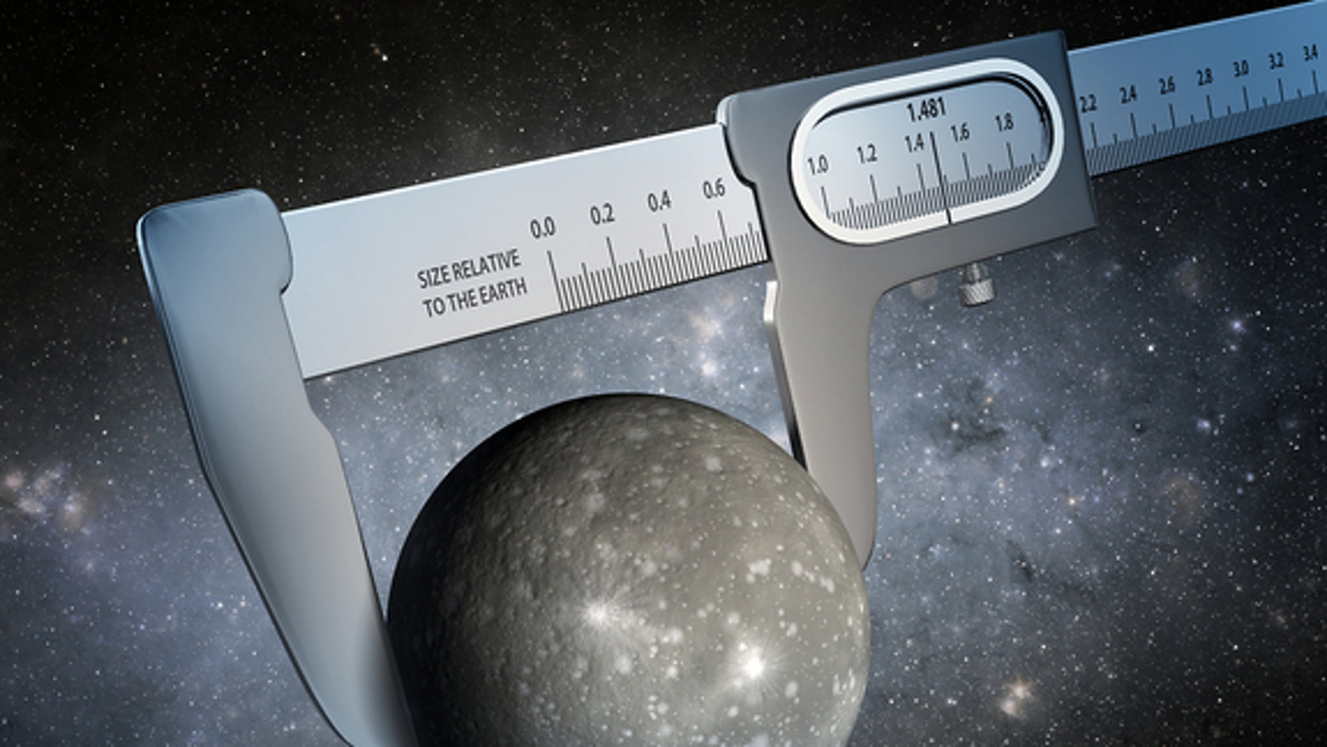 An illustration displays takes artistic licences in depicting how scientists have made the most precise measurement of the size of an exoplanet. Image released July 23, 2014.