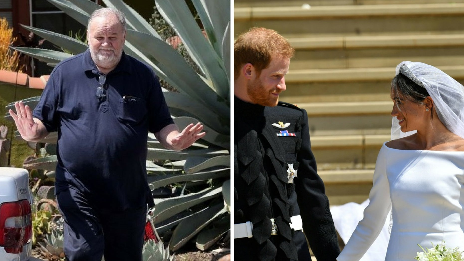 Thomas Markle, Meghan Markle's father, said he wished he was at the royal wedding on Saturday, May 19, 2018.
