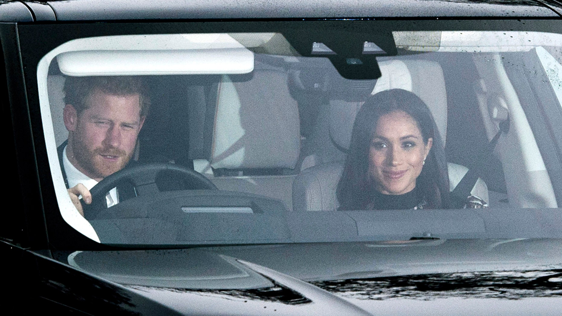 Prince Harry and Meghan Markle arrive together at the annual Christmas lunch for the extended Royal Family at Buckingham Palace on December 20, 2017 in London, England.