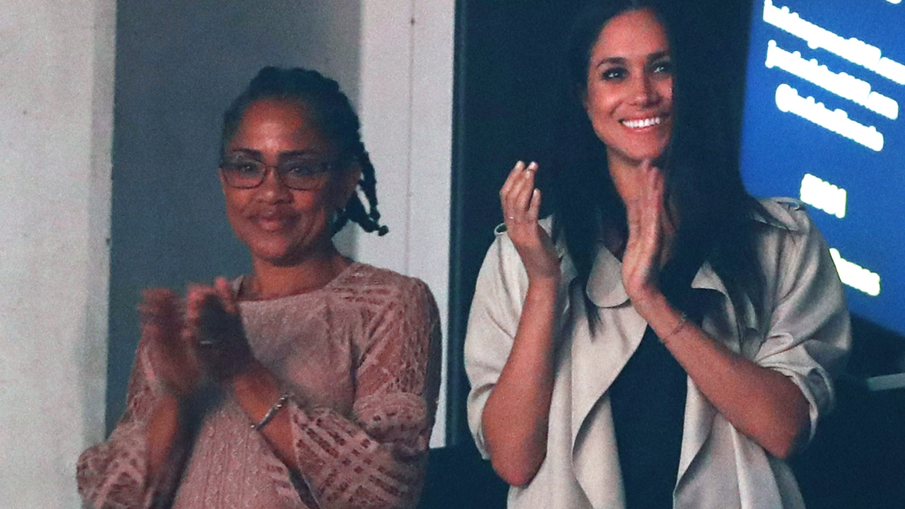 Meghan Markle (right) and her mother Doria Ragland at the closing ceremony for the Invictus Games in Toronto, Ontario, Canada September 30, 2017.