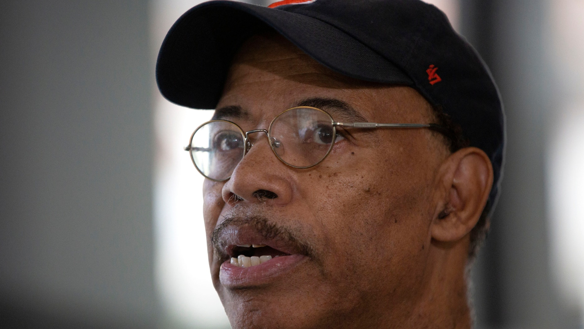 Former U.S. Rep. Mel Reynolds speaks to reporters after receiving a six- month prison sentence for failing to file tax returns for four years after a hearing in Chicago, May 10, 2018.