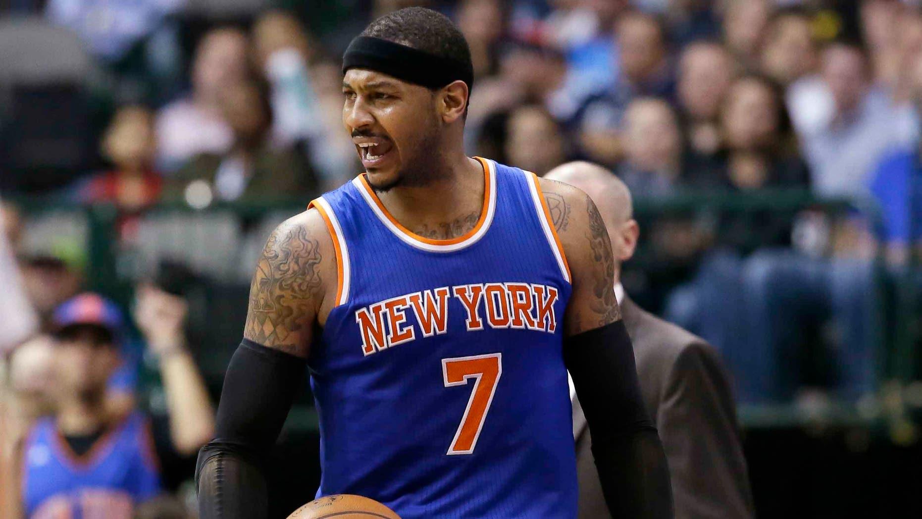 New York Knicks forward Carmelo Anthony.