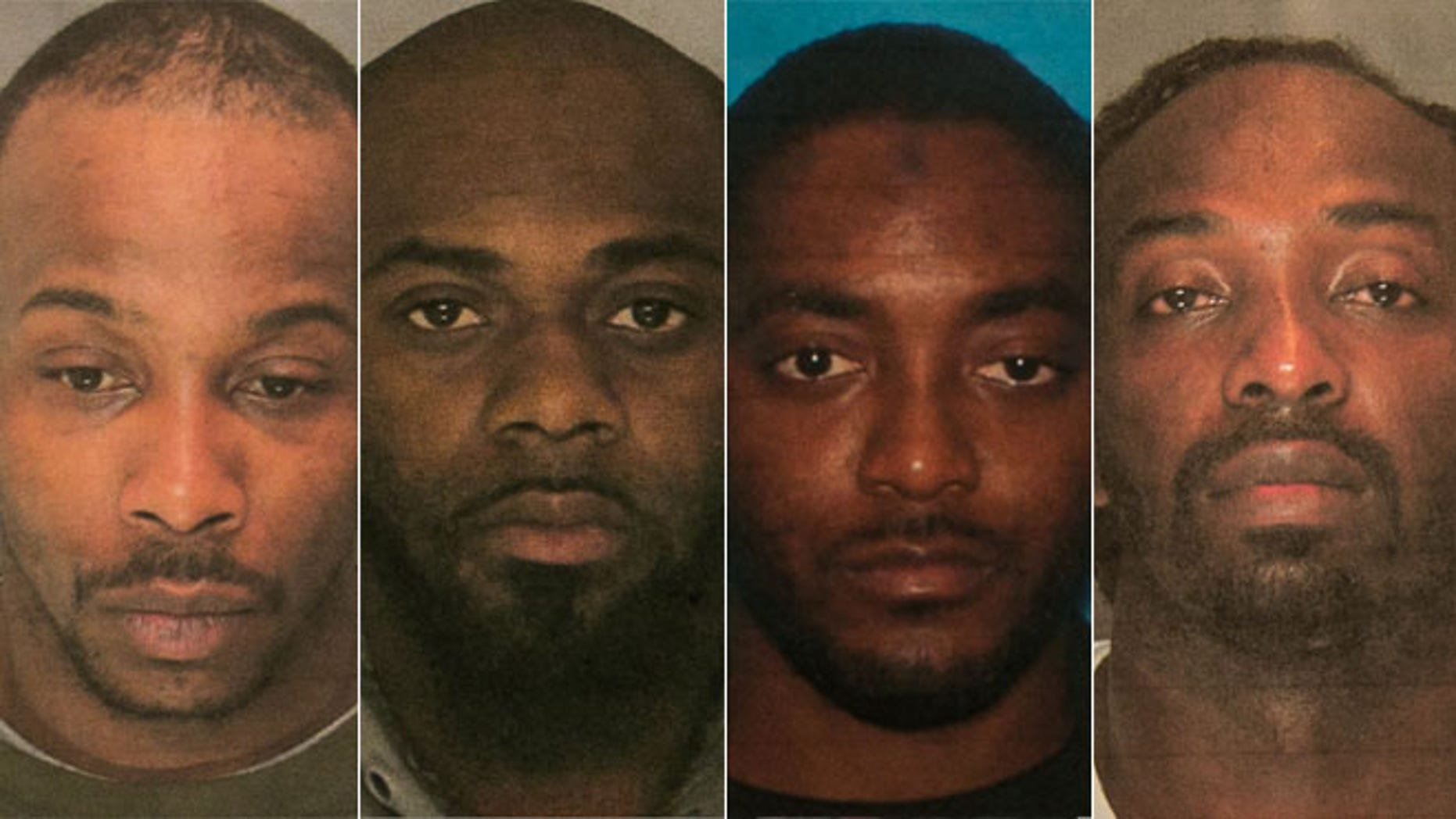 These photos show the four suspects charged in a deadly Dec. 15 carjacking. Police identified the suspects from left to right as, Kevin Roberts, Hanif Thompson, Basim Henry and Karif Ford.