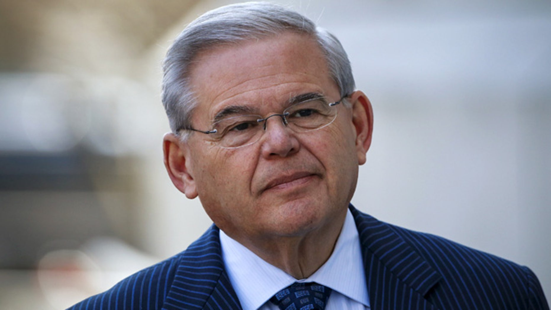 U.S. Senator Bob Menendez (D-NJ) arrives to the Federal court in Newark, New Jersey April 2, 2015.