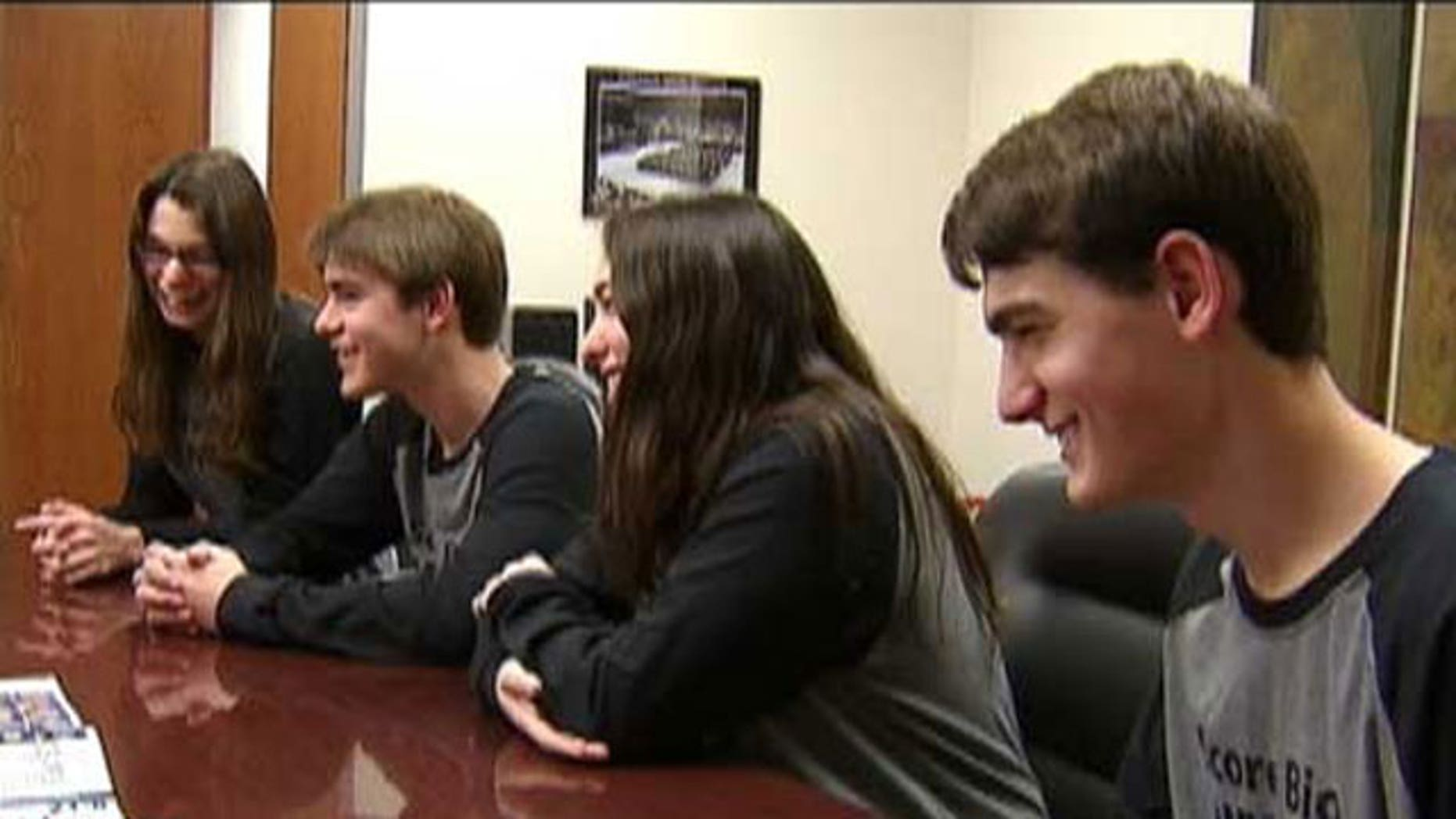 Moria, Thomas, Alanna and Patrick Crowley of Wylie, Tx., were all accepted into Mensa.