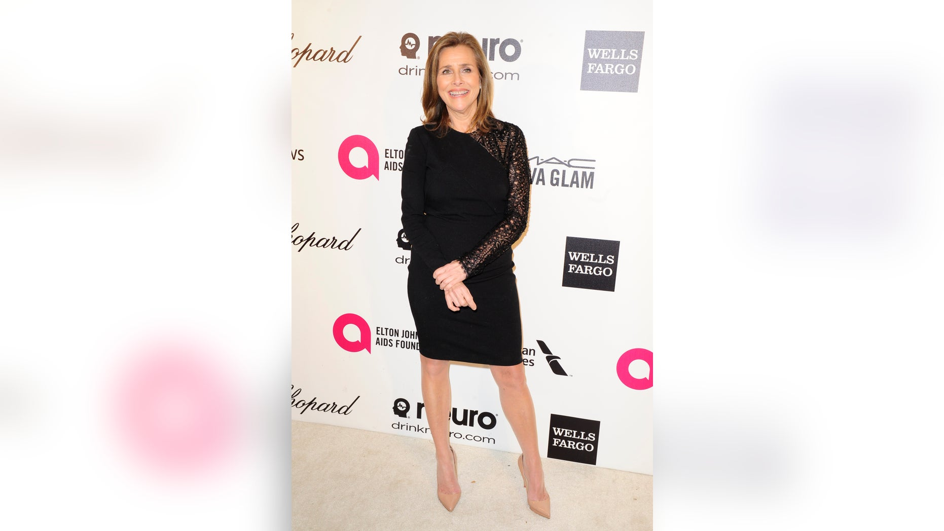 March 2, 2014. Television journalist Meredith Vieira arrives at the 2014 Elton John AIDS Foundation Oscar Party in West Hollywood, California.