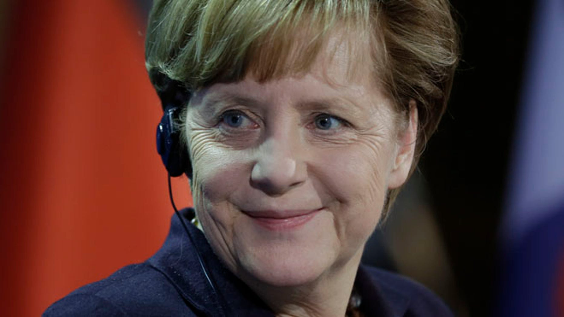 MARCH 26: German Chancellor Angela Merkel seen in South Korea has reportedly been a target for NSA.