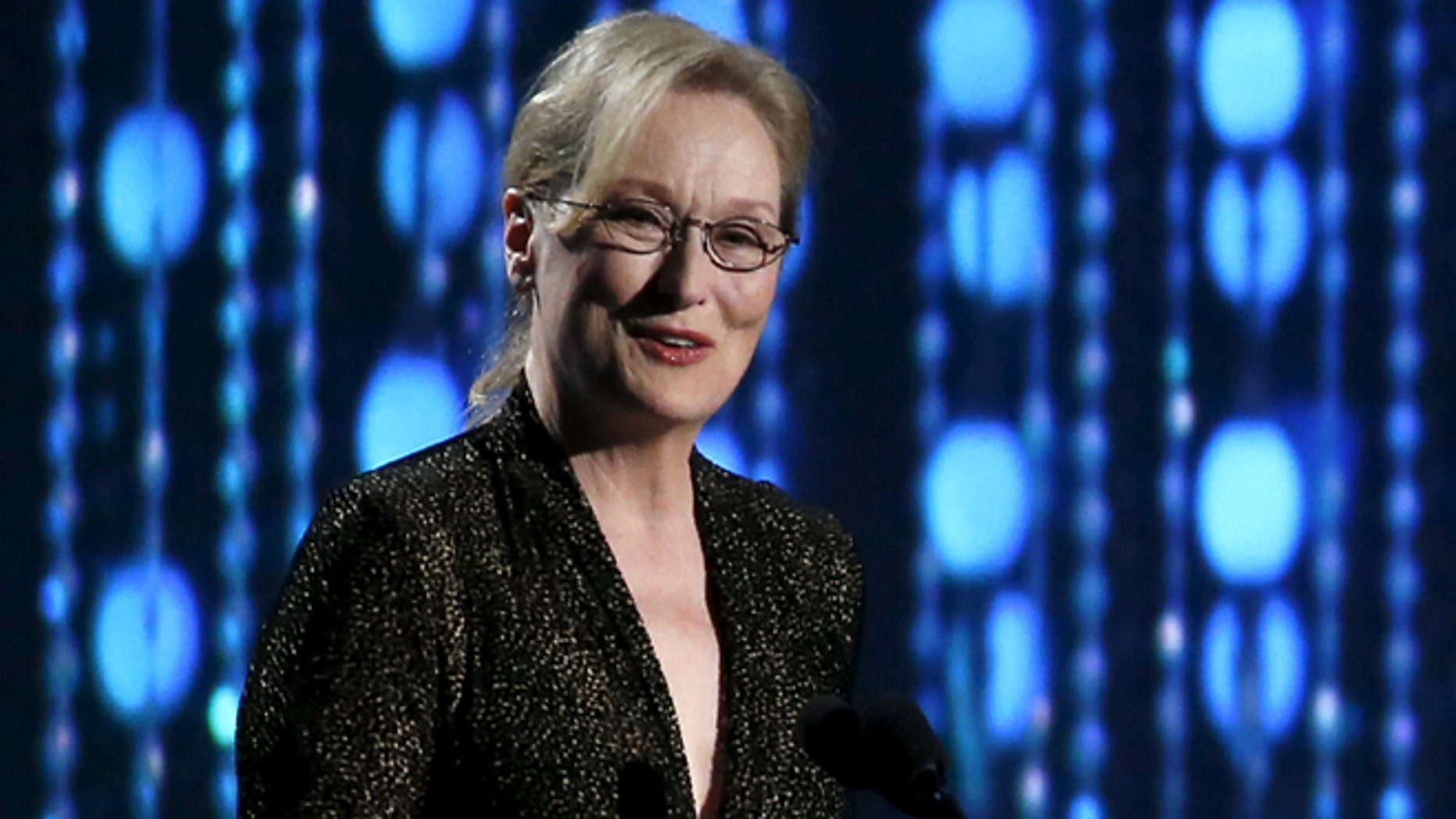 November 14, 2015. Actress Meryl Streep speaks at the 7th Annual Academy of Motion Picture Arts and Sciences Governors Awards at The Ray Dolby Ballroom in Hollywood, California.