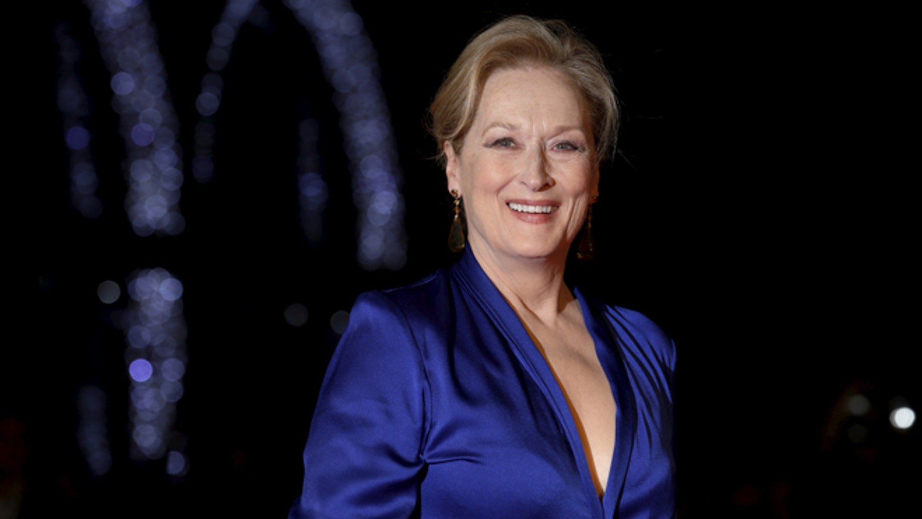 """October 7, 2015. Meryl Streep arrives for a screening of the film """"Suffragette"""" in London."""