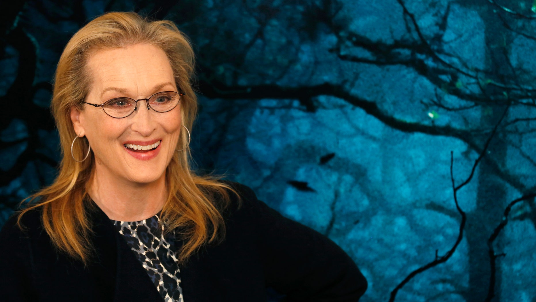 """January 7, 2015. Actress Meryl Streep poses during a media event for the film """"Into the Woods,"""" in London."""