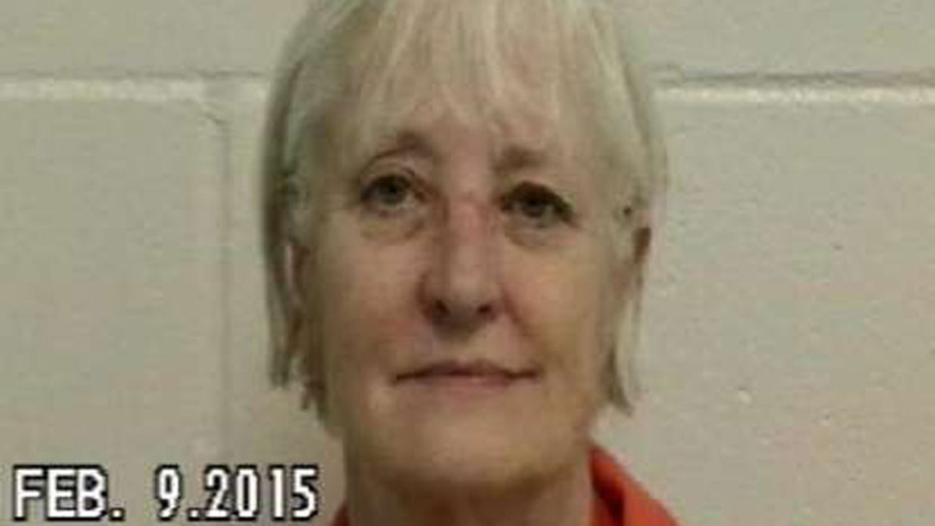 Feb. 9, 2015: This photo shows Marilyn Hartman, known as the 'Serial Stowaway' after her arrest for allegedly checking into a hotel under a false name after she took a flight from Minnesota to Florida without a ticket. (Nassau County Sheriff's Office)