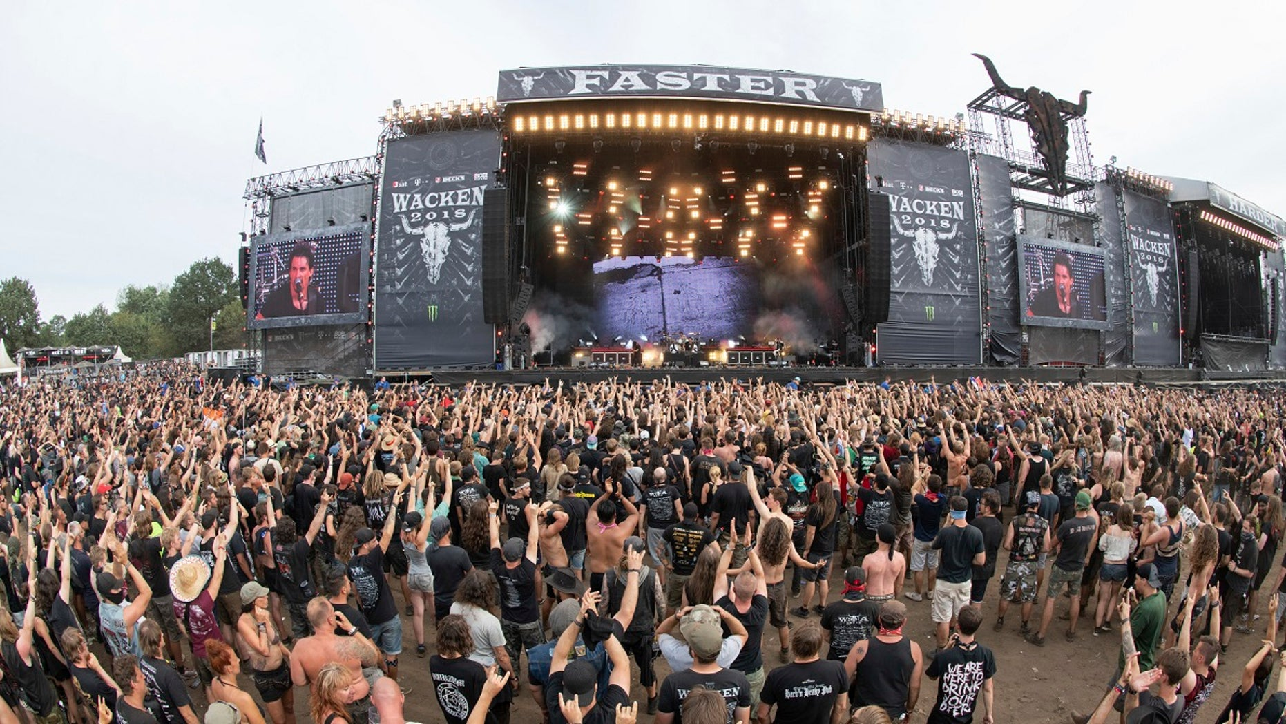 "Police backtracked on their report that two ""elderly men"" escaped a care home to attend a heavy metal festival in Sacken, northern Germany."