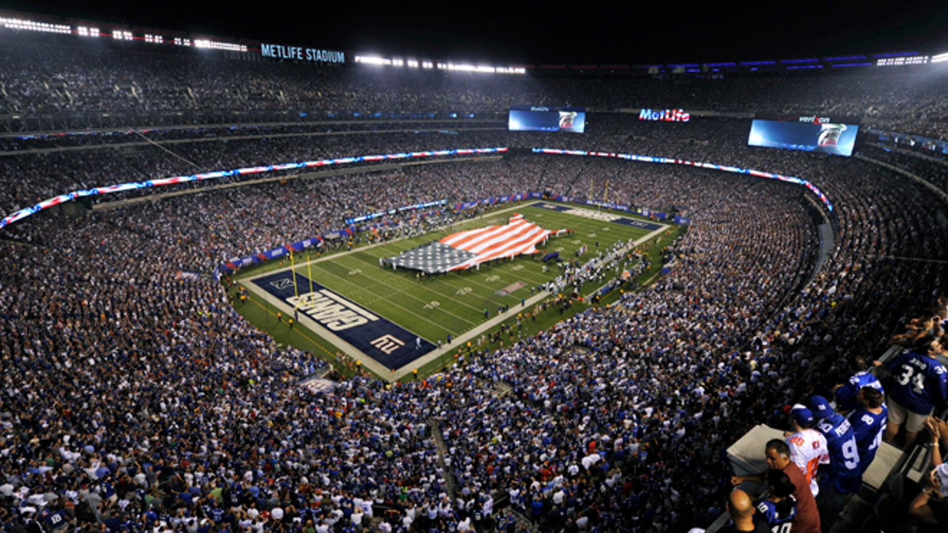 Sept. 5: A general overall view of the Metlife Stadium as the New York Giants host the Dallas Cowboys in the opening game of the NFL football season in East Rutherford, New Jersey.