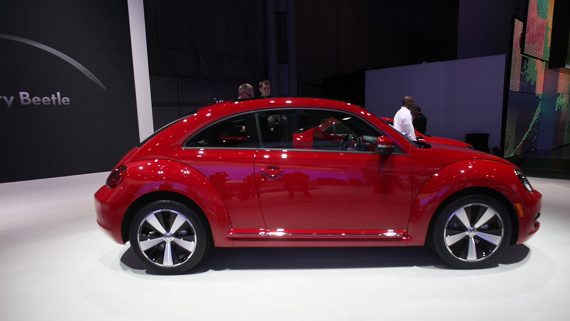 Apr 20: The new 2012 Volkswagen Beetle is viewed on the floor of the New York International Auto Show April 20, 2011 in New York City.