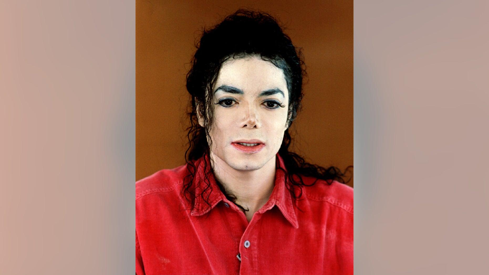 Dec 22, 1993. Michael Jackson addresses television viewers.