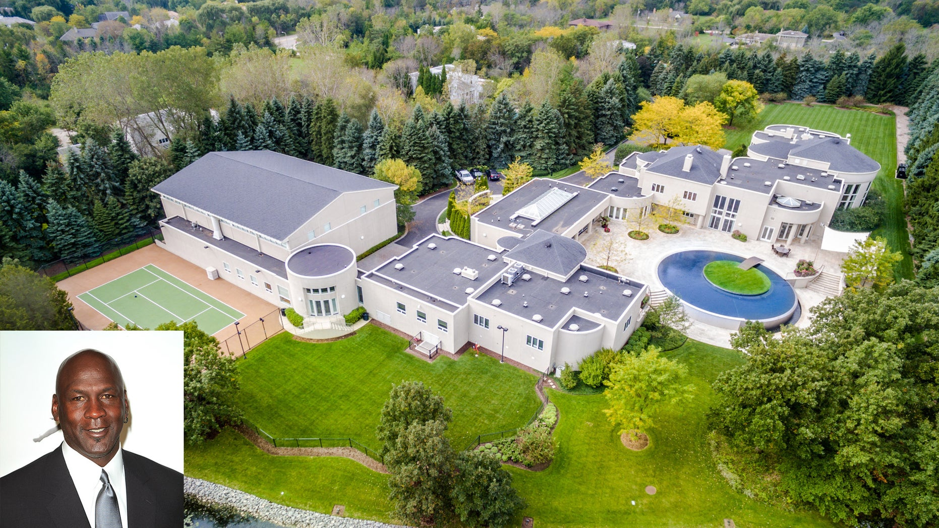 Michael Jordan's home near Chicago