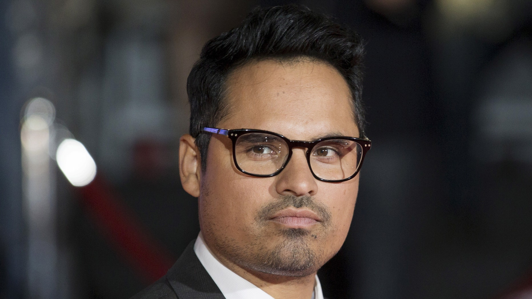 """Michael Pena arrives on the red carpet for the film """"The Martian"""" during the 40th Toronto International Film Festival in Toronto, Canada, September 11, 2015."""