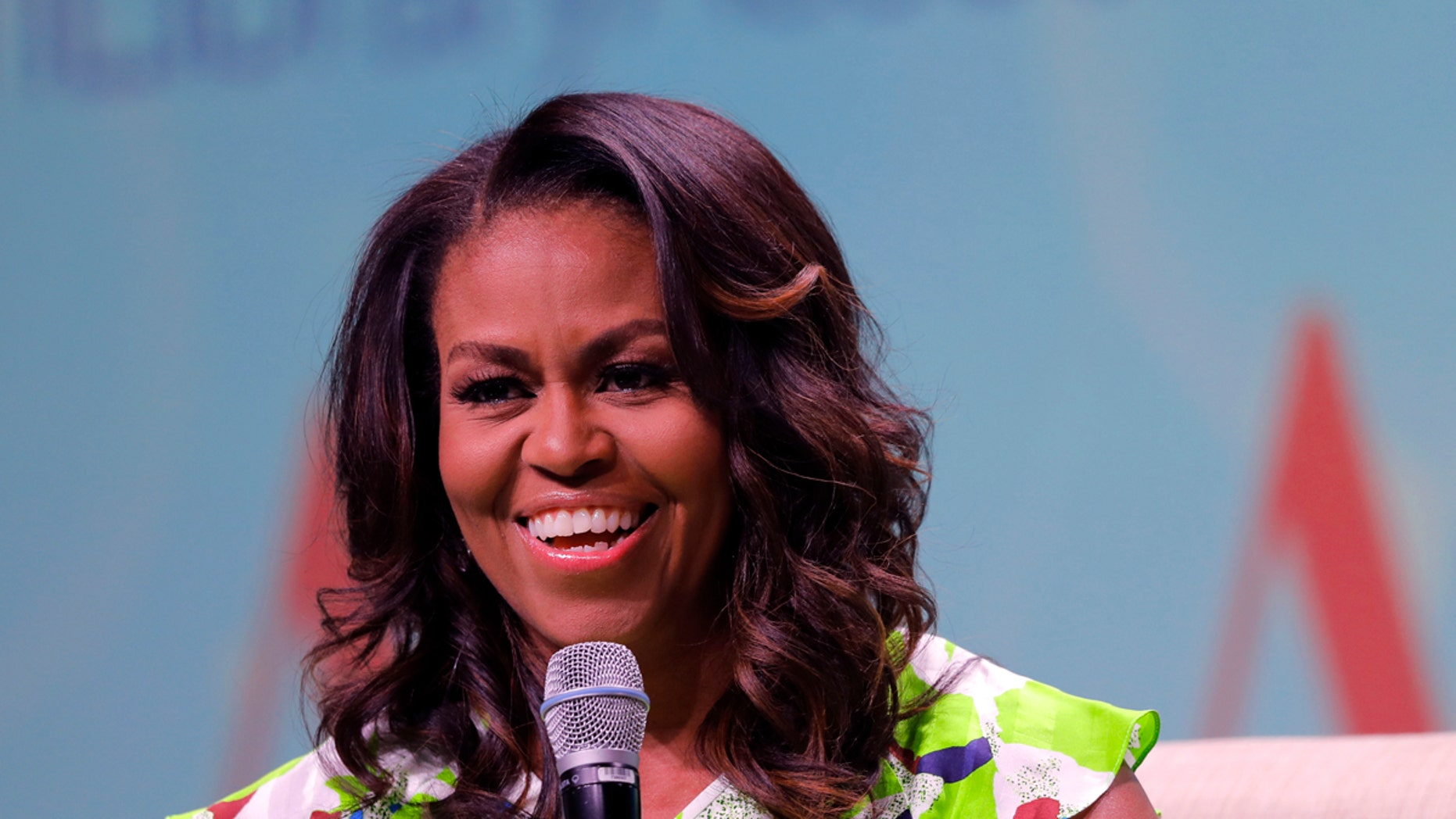 """Former first lady Michelle appeared on """"Good Morning America"""" Tuesday morning. (AP Photo/Gerald Herbert)"""