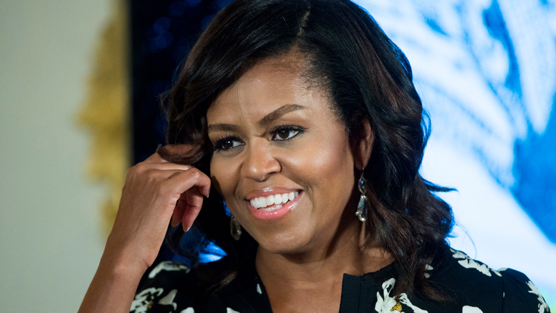 FILE - In this Oct. 11, 2016, file photo, first lady Michelle Obama speaks in Washington.