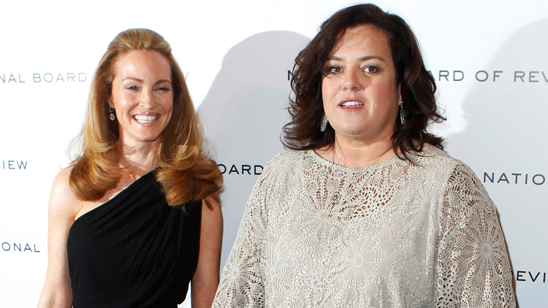 Actress Rosie O'Donnell (R) arrives with Michelle Rounds to attend the National Board of Review Awards Gala in New York, January 10, 2012. REUTERS/Lucas Jackson (UNITED STATES - Tags: ENTERTAINMENT) - GM1E81B0UW401
