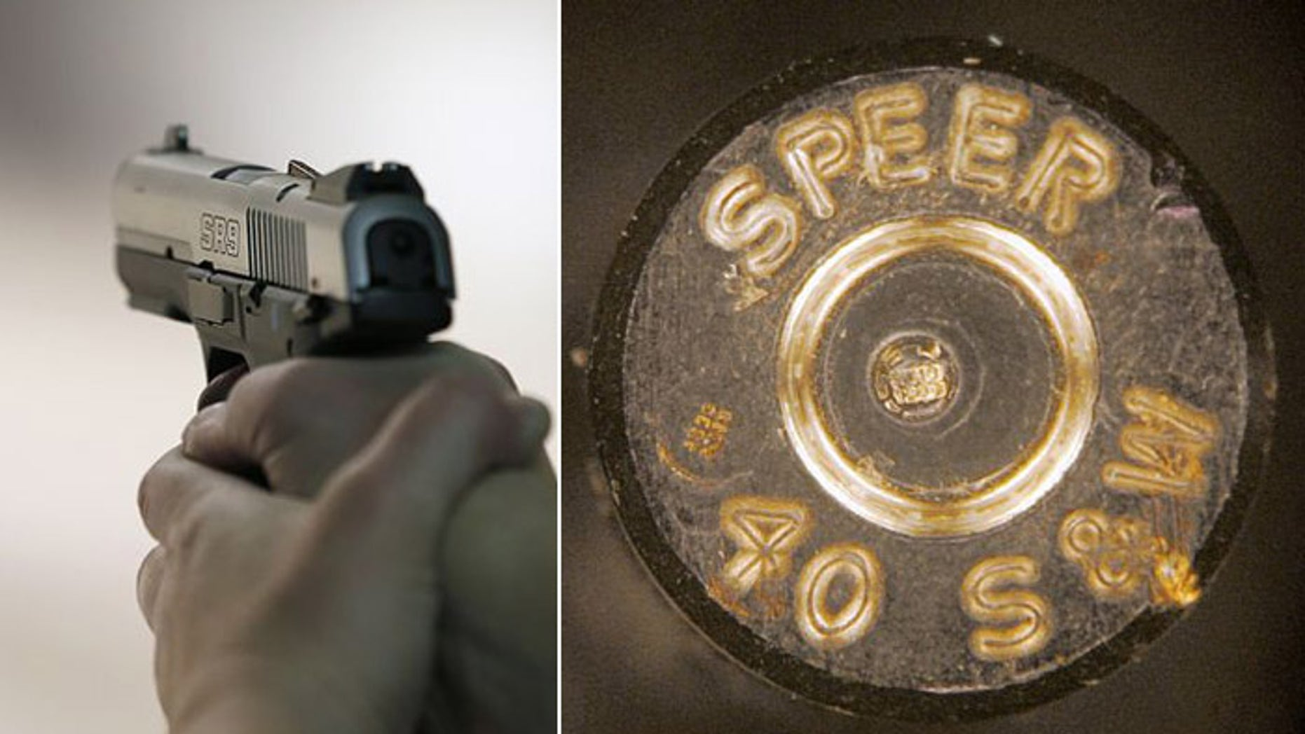 Microstamping technology is designed to leave a telltale indentation in the very center of the shell casing when the gun is fired. (AP)