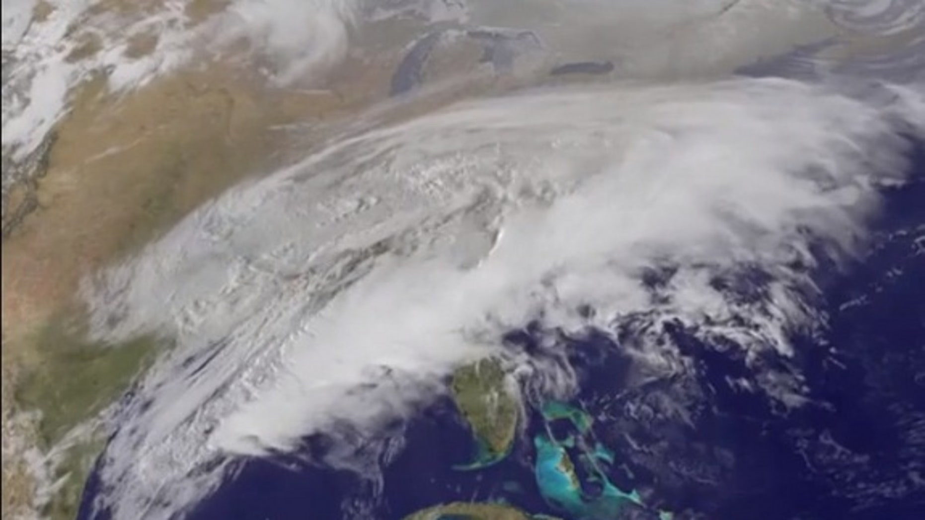 NOAA's GOES satellite captured the progression of another major winter storm over the U.S. Mid-Atlantic on March 16 and 17.