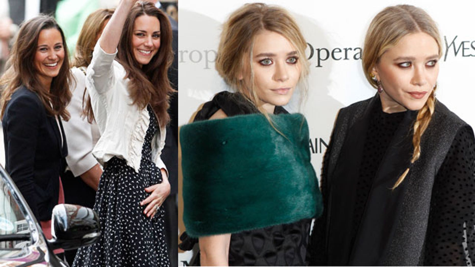 Mary Kate and Ashley Olsen beat out Kate and Pippa Middleton.