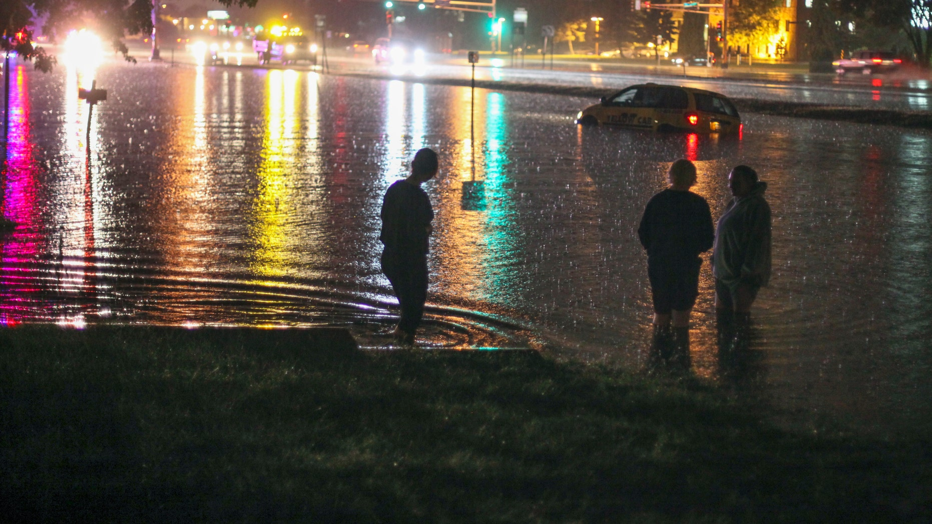 Record-setting rainfall caused flooding in Minneapolis.