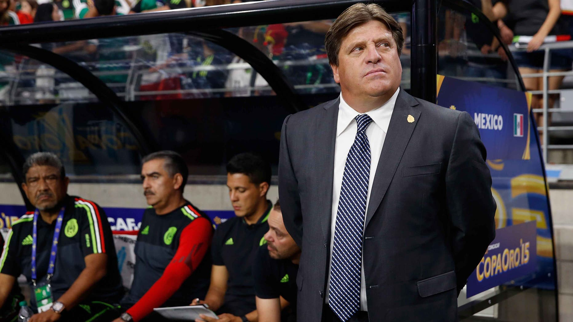 Miguel Herrera during the 2015 CONCACAF against Guatemala on July 12, 2015 in Glendale, Arizona.