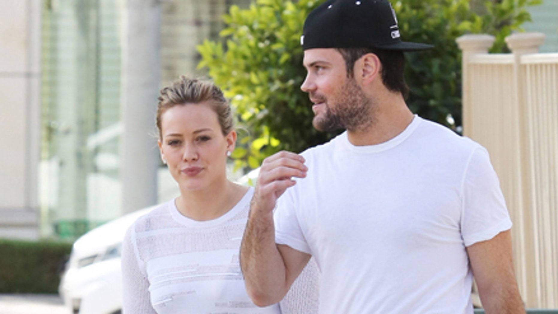 Hilary Duff with estranged husband and son Luca.