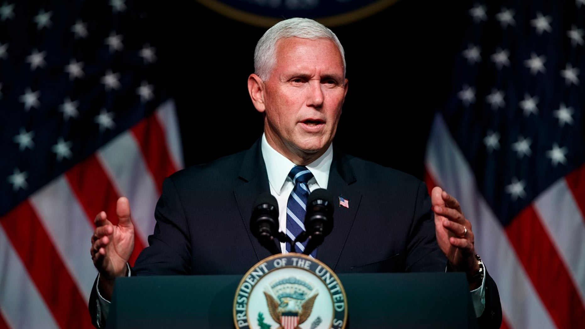 File photo: Vice President Mike Pence attended a rally in Grand Rapids, Michigan, on Wednesday, August 8, 2018.