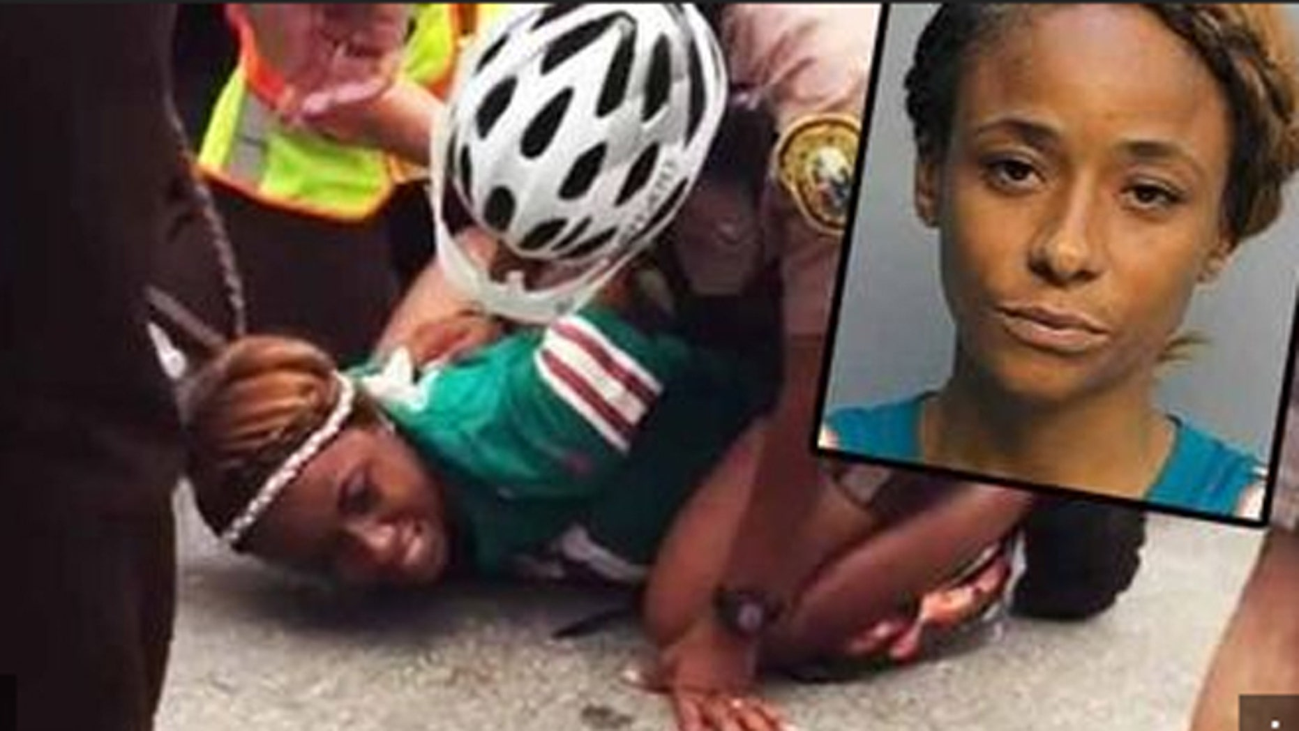 Miko Grimes was arrested before one of her husband's games last September. (Associated Press)