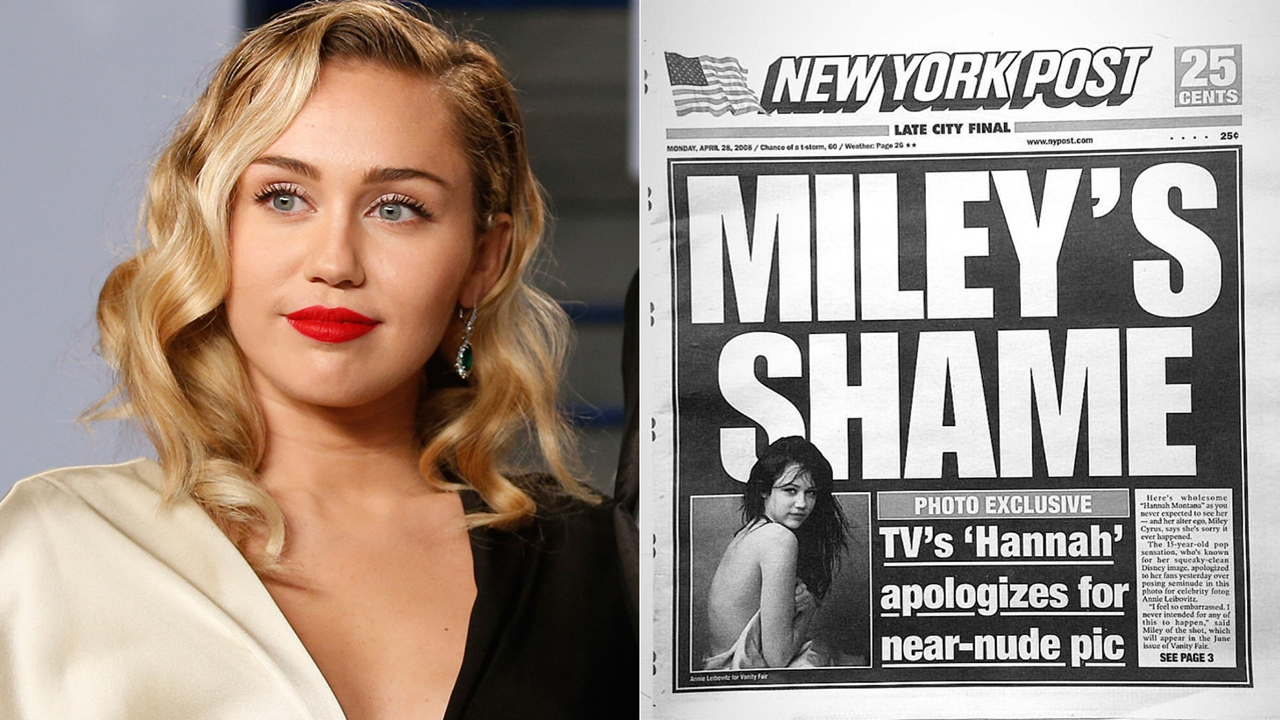 Miley Cyrus explained why she retracted her apology for her Vanity Fair shoot in 2008.