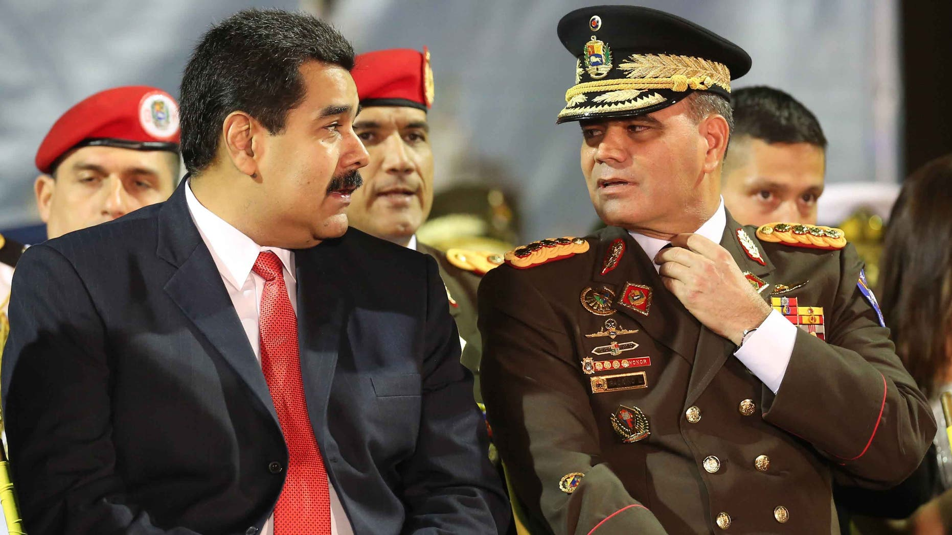 Venezuela's President Nicolas Maduro and his Defense Minister Gen. Vladimir Padrino, in a 2014 file photo.