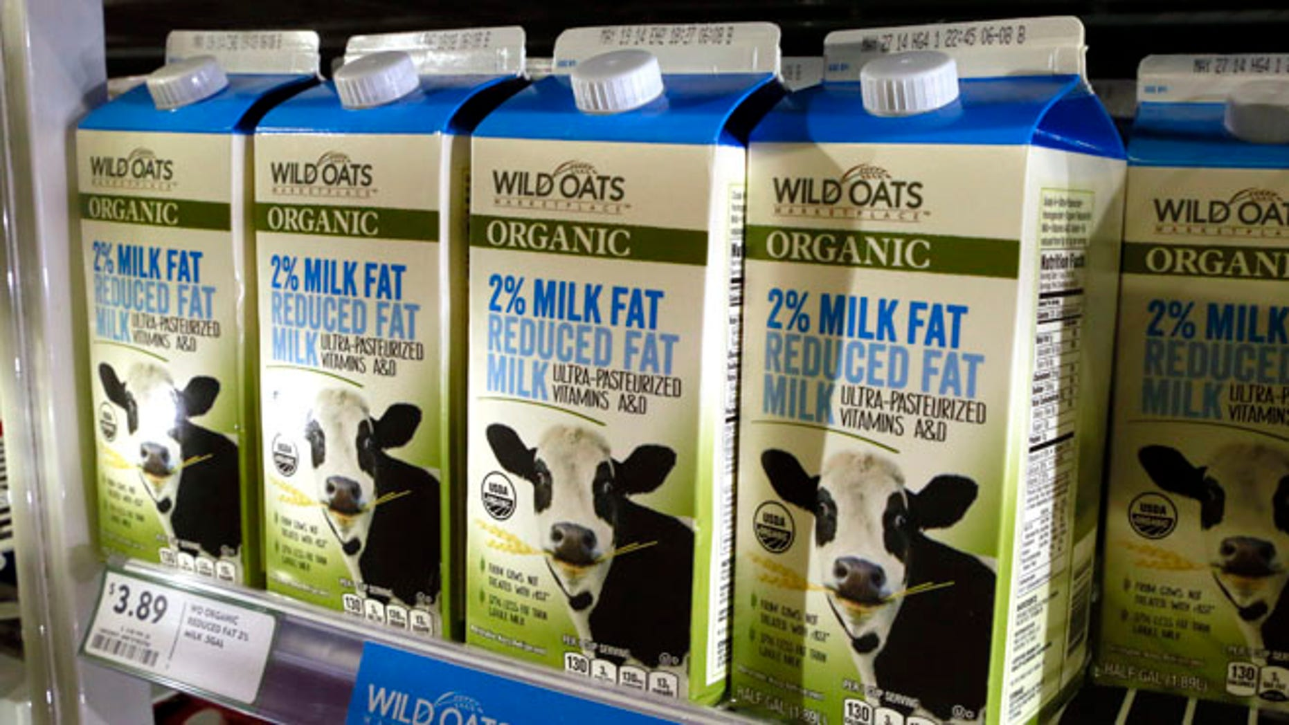 April 10, 2014: Cartons of milk.