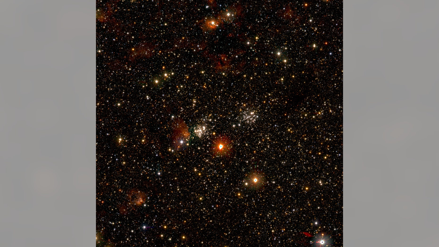 A star-forming region in our Milky Way galaxy. This image is a zoomed-in detail from a larger photo that captures 1 billion of the Milky Way's stars.
