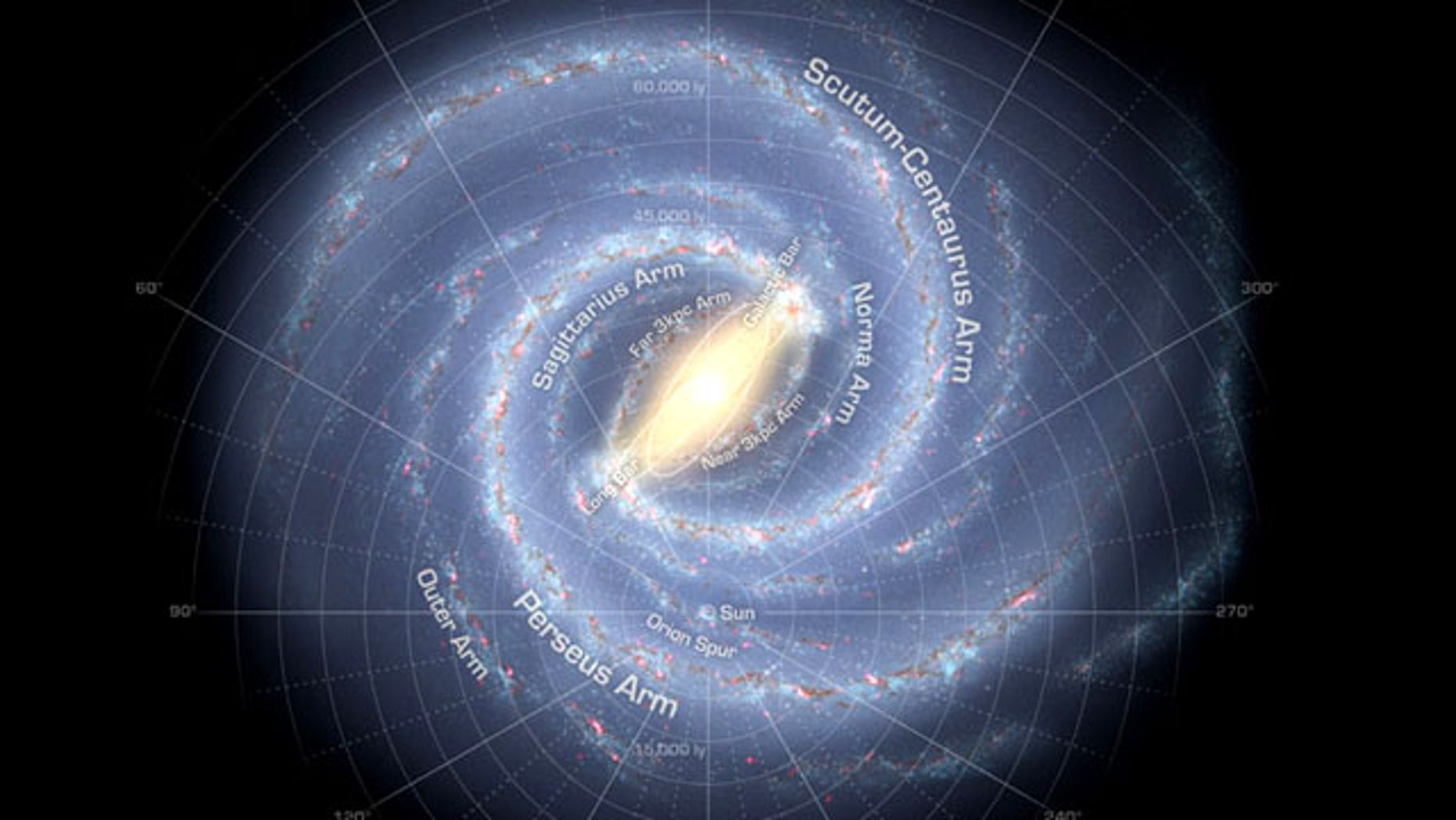 Newly-discovered star-forming regions are concentrated at the end of the Milky Way's central bar and in the spiral arms.