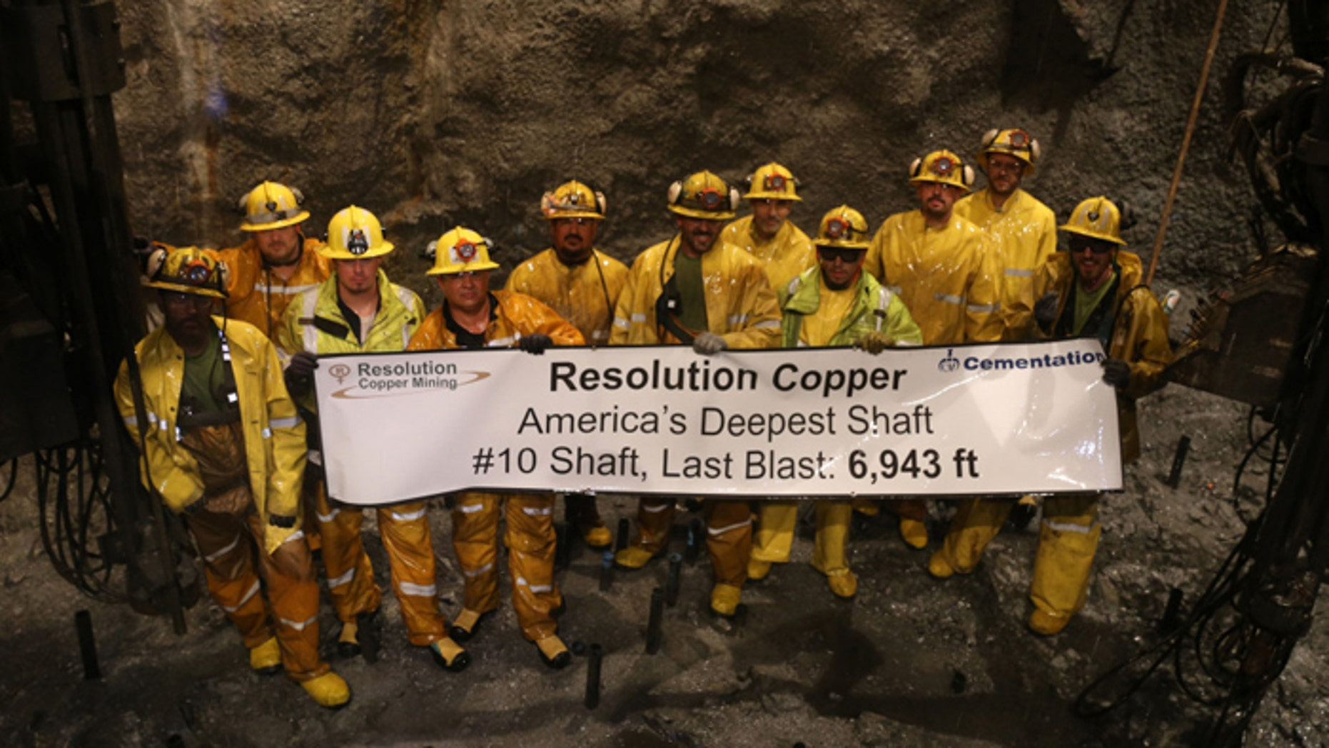 The shaft, 28 feet in diameter and 1.3 miles straight down, is the deepest in the U.S. (Resolution Mine Co.)
