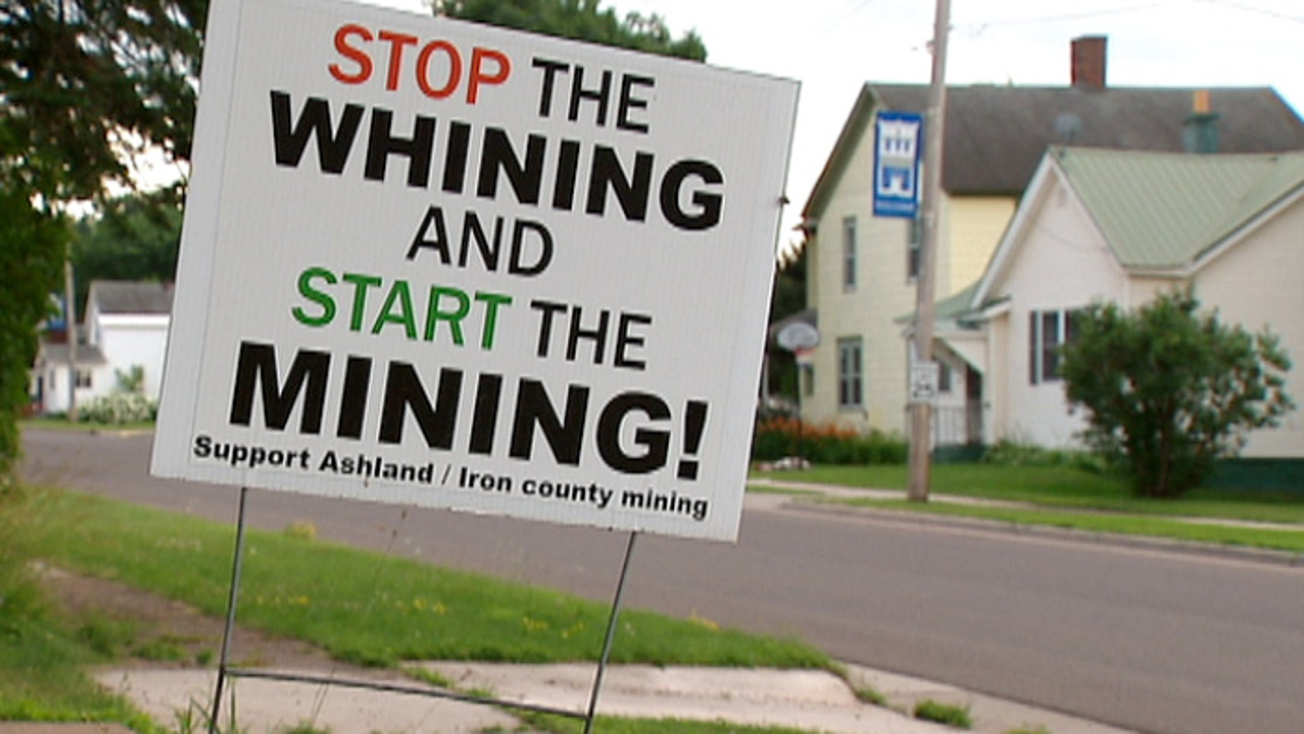 Residents of Hurley, Wisc., have strong opinions on the possible iron ore mine. (Fox News)