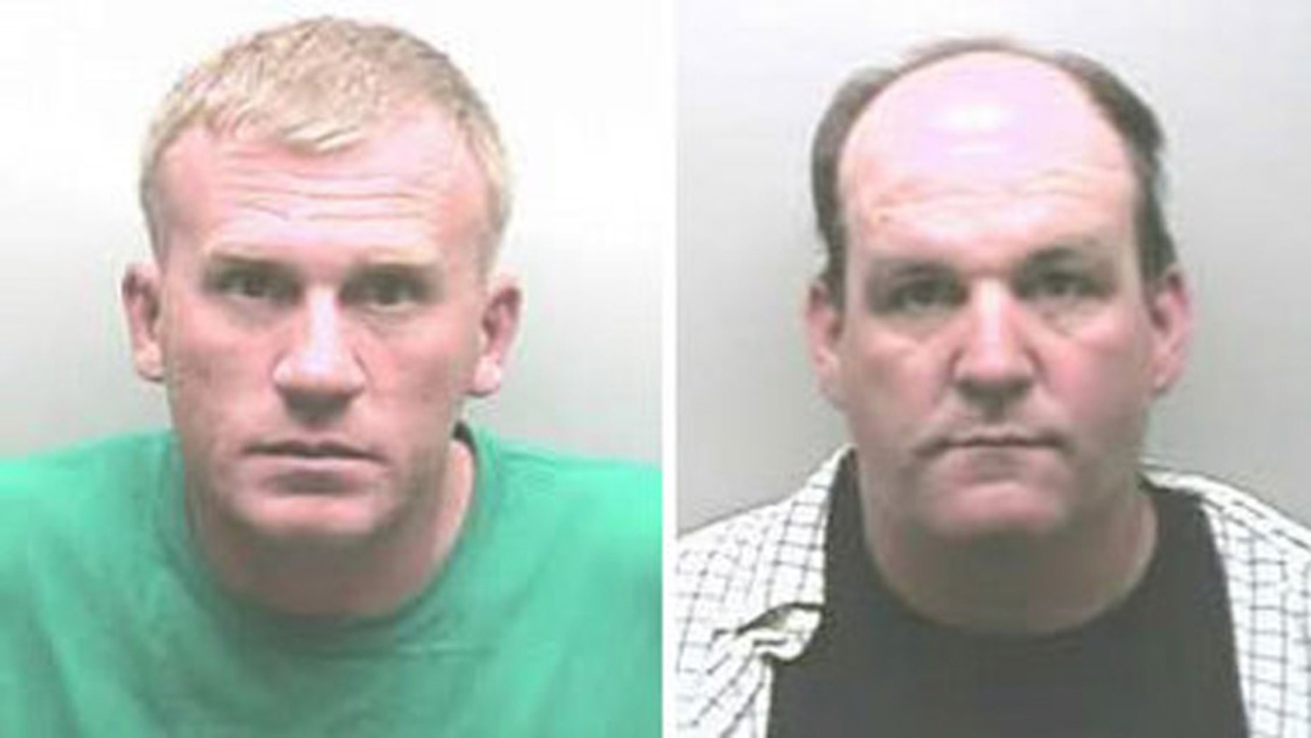 Gary Minor Jr., left, and Robert Gillaspie who aroused suspicions by winning six local tournaments in a row, also had their fishing and hunting licenses revoked and were banned from future fishing competitions. (Marshall County Sheriff's Office)