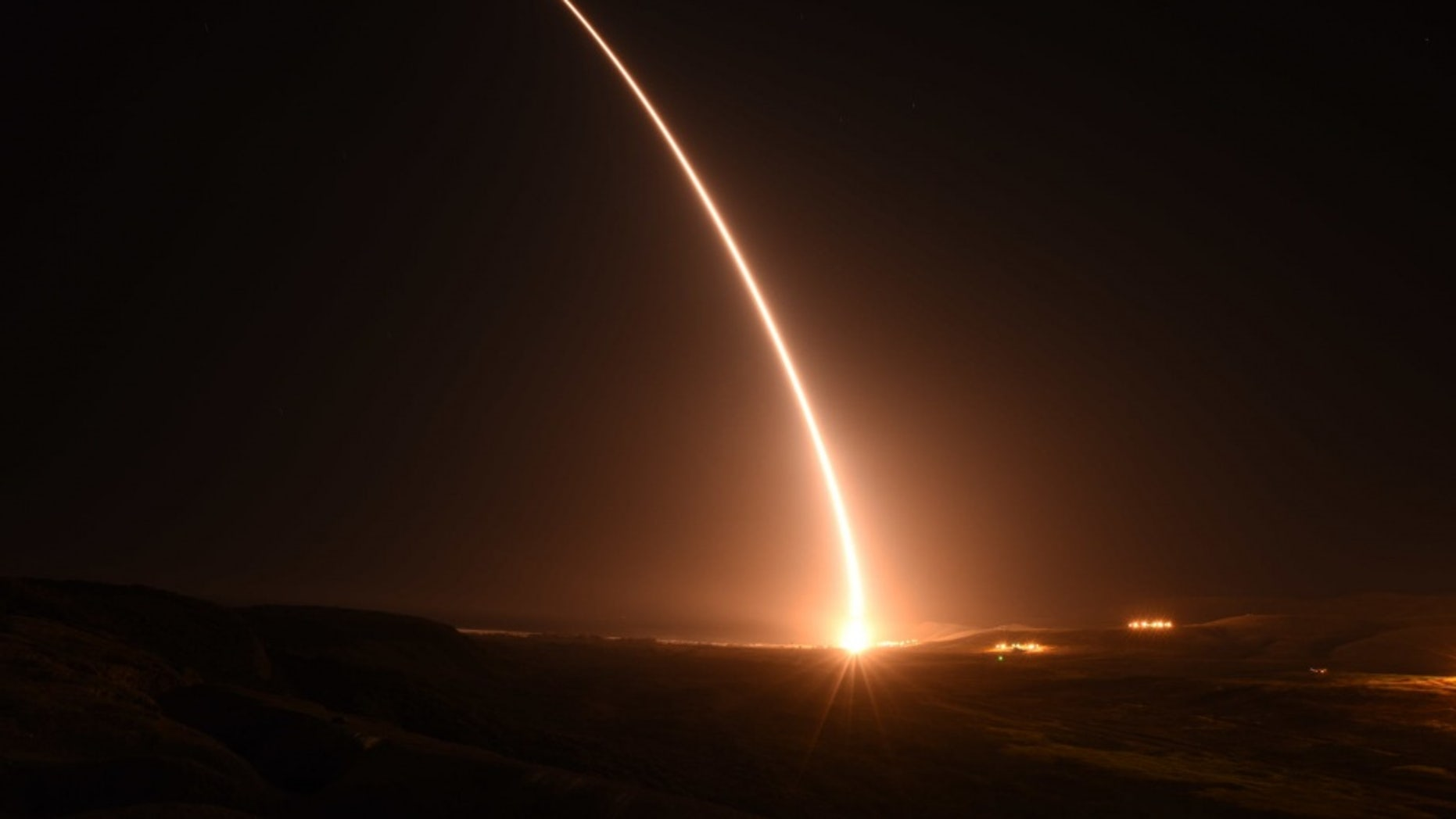 File photo - An unarmed U.S. Air Force Minuteman III intercontinental ballistic missile launches during an operational test at 1:23 a.m. Pacific Daylight Time Monday, May 14, 2018, at Vandenberg Air Force Base, Calif. (U.S. Air Force photo by Airman Aubree Milks)
