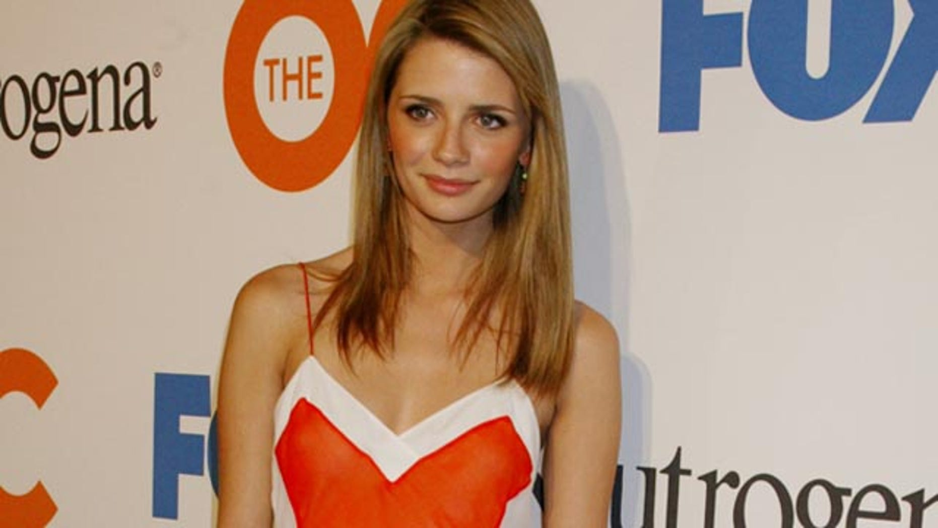"""Actress Mischa Barton, star of the Fox television network drama series """"The OC"""" poses as she arrives at a party celebrating the season finale of the popular series in Hollywood, April 20, 2004. The show is an ensemble drama revolving around the young adult community of the Orange County area in Southern California. REUTERS/Fred Prouser  FSP"""