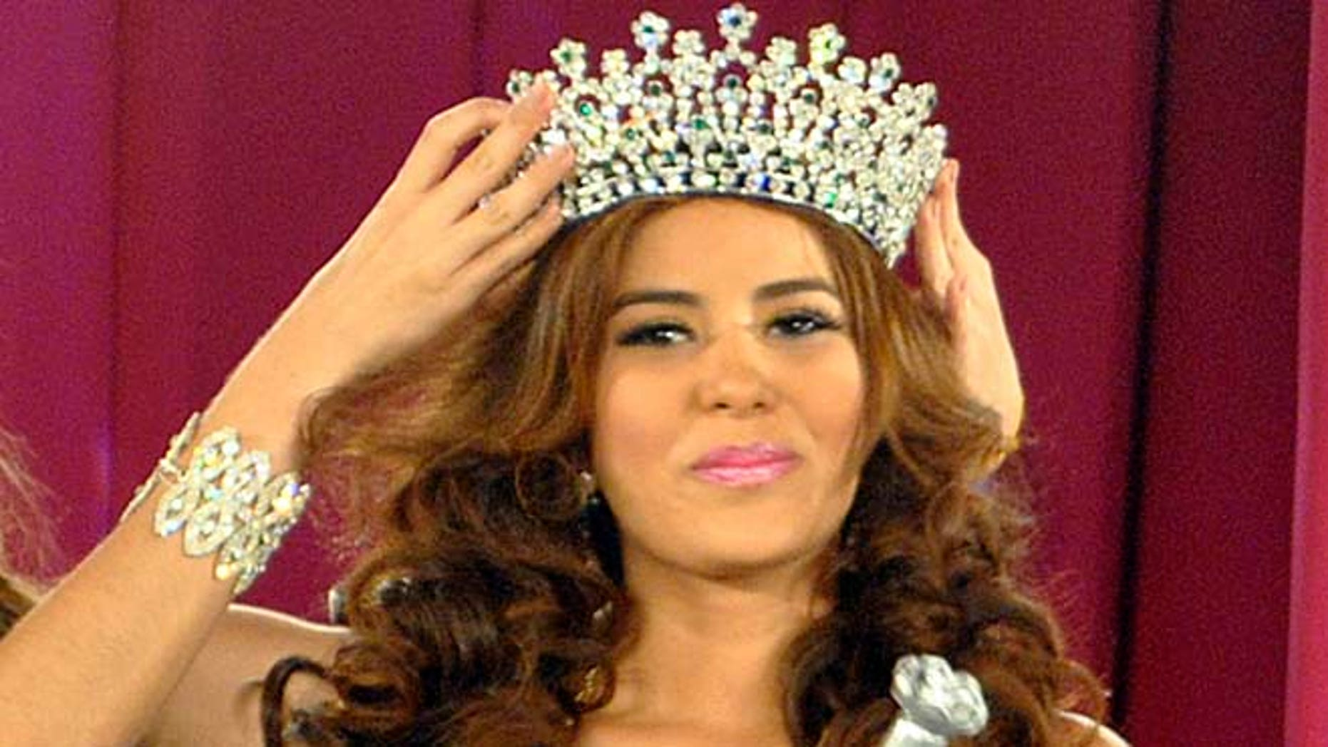 April 26, 2014: In this photo, Maria Jose Alvarado is crowned the new Miss Honduras in San Pedro, Sula, Honduras. Alvarado, and her sister Sofia disappeared after attending a birthday party in Western Honduras on Thursday Nov. 13, but authorities were not notified until the weekend.  The 19-year-old beauty queen was expected to attend the Miss World pageant in Britain this December.
