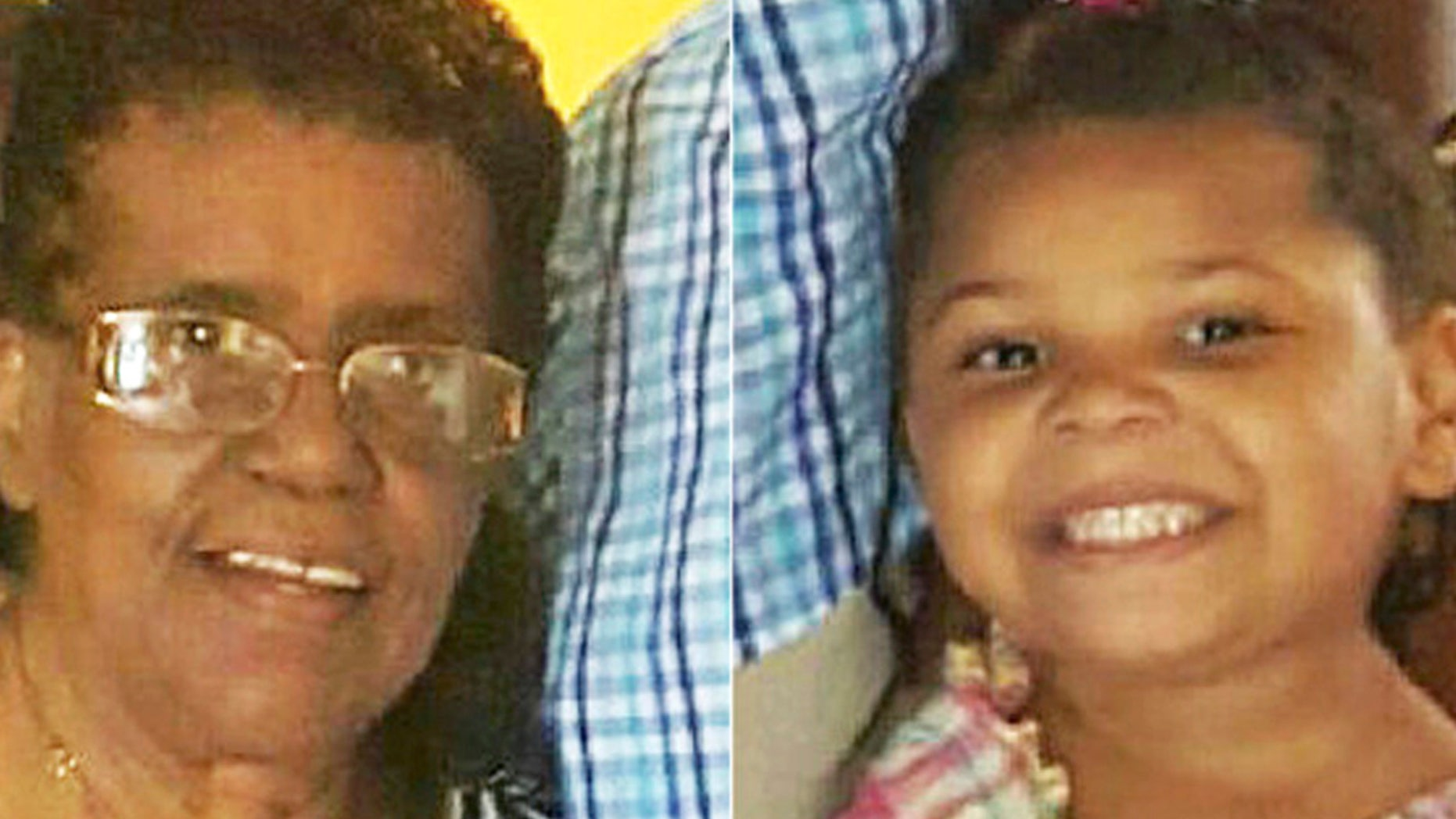 This combination of photos released by the Hamilton Police Department in New Jersey shows Barbara Briley, left, and her 5-year-old great-granddaughter La'Myra Briley.