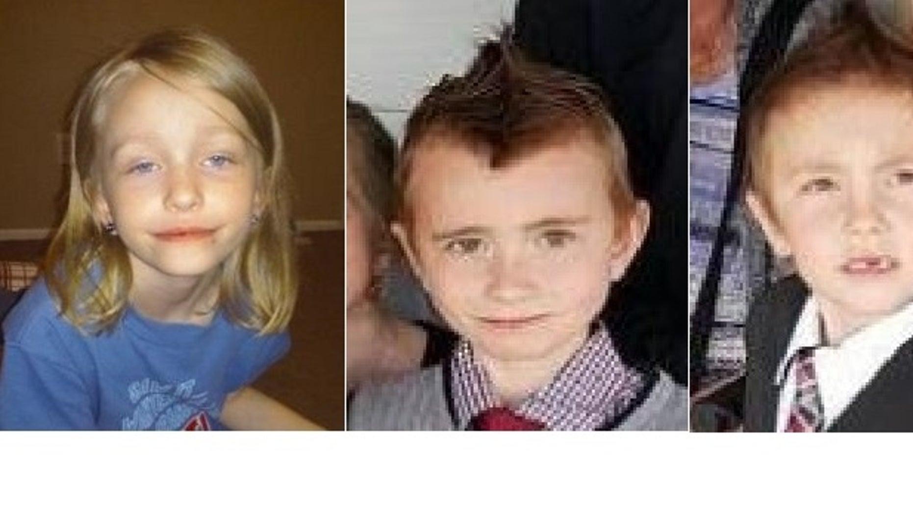From left to right: Kaylee Dunn, Lewis Dunn, Kadyn Simon.