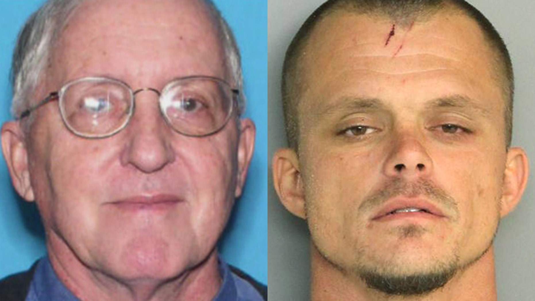 The undated photo at left shows the Rev. Rene Robert. The April 14, 2016 photo at right shows Steven James Murray of Jacksonville, Fla.