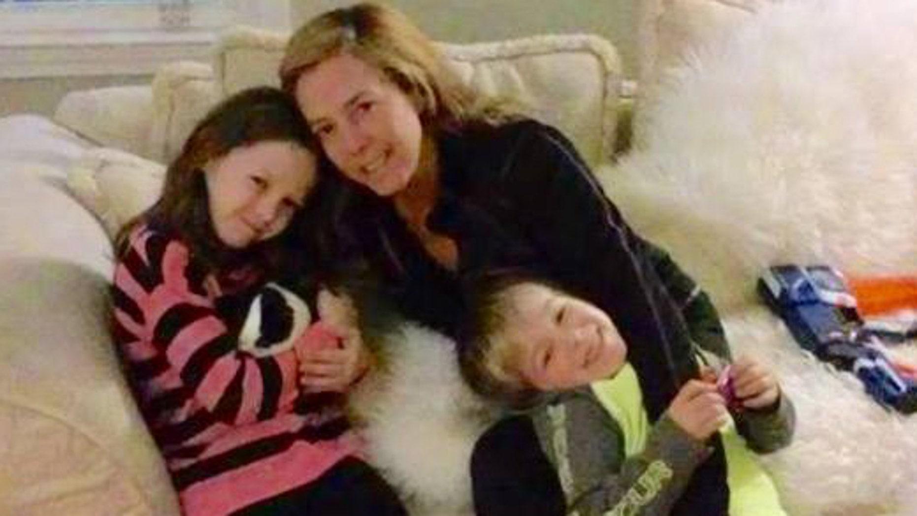 Cops found Valerie McGrath, center, and her children, Eden and Steven, safe on Monday.