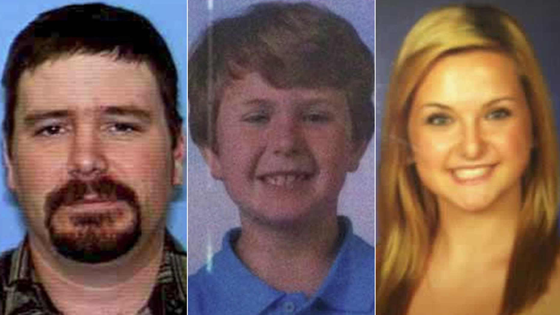 "The suspect, James Lee DiMaggio, 40, left, is being sought in the disappearance of Ethan Anderson, 8, and Hannah Anderson, 16. DiMaggio and the children's mother, Christina Anderson, 44, who was found dead on Sunday, were in a ""close platonic relationship,"" according to authorities. (California Highway Patrol)"